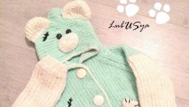 Кофточка с капюшоном Мишка Тедди