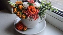 Цветочная чашка -«Яркие весенние краски»