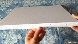 Кака натянуть бумагу для акварели на планшет для рисования?