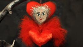 Интерьерная подвеска кукла-валентинка Лу