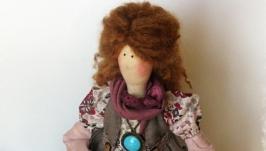 Интерьерная кукла в стиле тильда Анетта