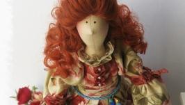 Интерьерная кукла в стиле тильда Габриелла