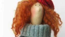 интерьерная кукла в стиле тильда Истель