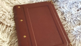 Классический кожаный блокнот,  полностью ручная работа.