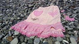 юбка льняная Розовое бохо