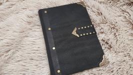 Классический кожаный блокнот, магнит