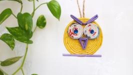 Минутка творчества с ребенком - мастер класс «Сова из бумажных трубочек»