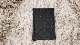 черный кожаный дневник