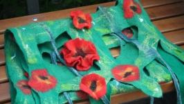 Арт - шарф ′Макове поле′