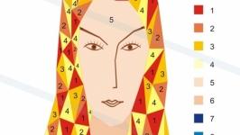 Живопись по номерам. Полигональный портрет своими руками.