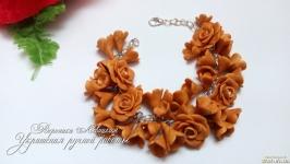 Браслет ′Сирень и розы′