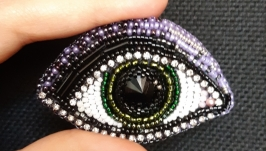 Брошь ′Зеленый глаз′