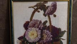 Картина ′Астры в корзине′