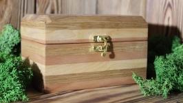 Шкатулка из разных пород дерева ′Дорога к лепрекону′