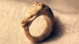 Кольцо ′Верный пес′ ручной работы