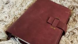 кожаный блокнот , ежедневник, съемная обложка, сменный блок