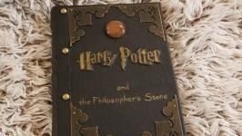 Книга Гарри Поттер ручной работы. кожа