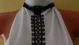 Ажурный женский галстук