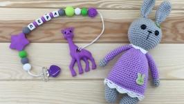 Комплект Зайка в фиолетовом платье