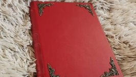 Изысканный красный блокнот, экокожа