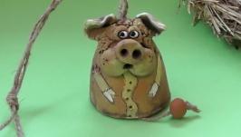 Свинья колокольчик №8