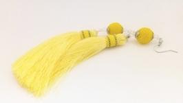 Серьги-кисти Лимонное желе.