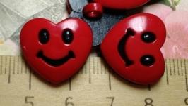 Пуговицы декоративные ′Сердечки-смайлики′