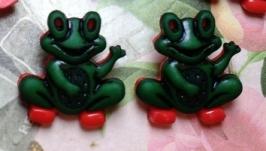 Пуговицы декоративные ′Лягушки′