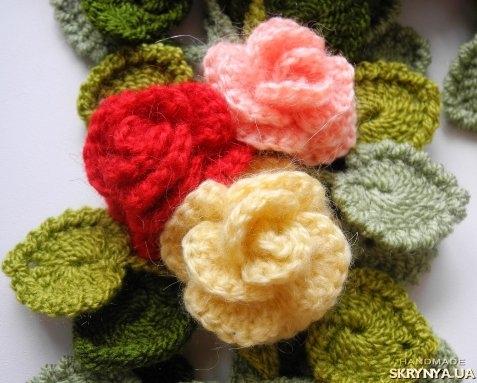 цветочные шарфы как вязать указания Сборка ротора