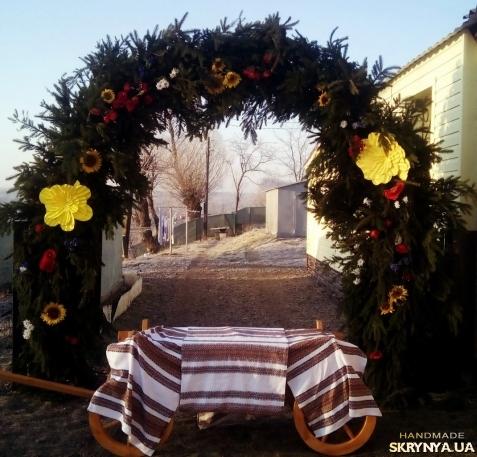 весільні брами з ялинки фото