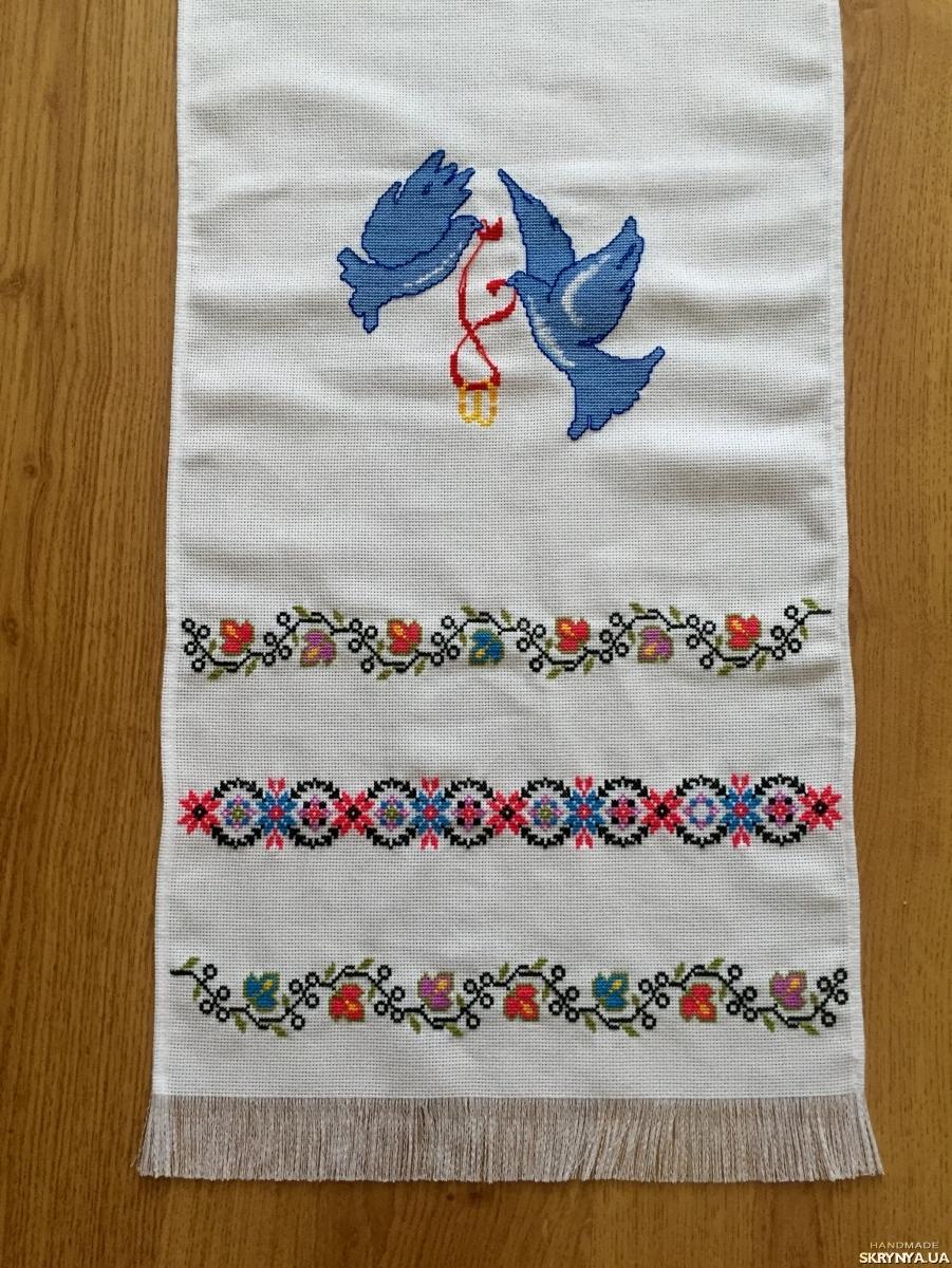 Вишитий рушник ручної роботи хрестиком весільний рушник — SKRYNYA.UA a28f5edf03512