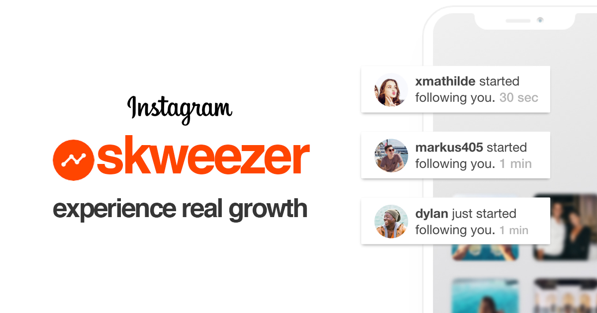 Skweezer - Buy Real Instagram Followers with Instant Delivery