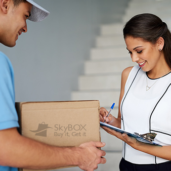 SkyBOX is your solution to shop online from home.