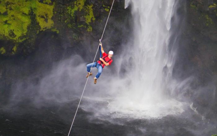 7 Line Zipline W/ Optional Waterfall Swim