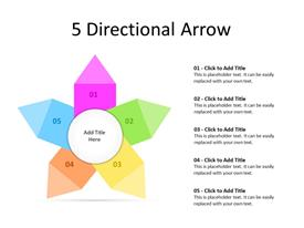 Different directional arrows