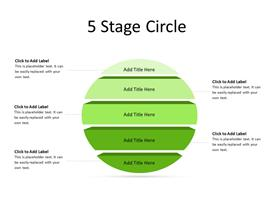 3D Circular Steps Diagram
