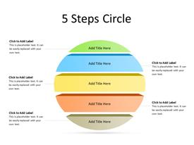 3D Circular Steps Diagram Colored