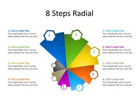 8 Steps Circular Diagram form with 8 multicolor sectors
