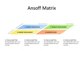 Ansoff Matrix Growth Framework