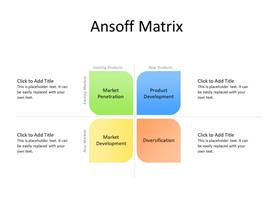 The Ansoff growth matrix