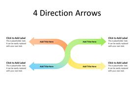 4 Arrows in different directions