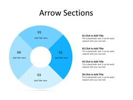 4 Arrows in circular form