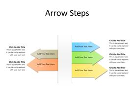 5 Arrows as steps in opposite directions