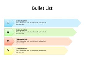 Bullet List with 4 items in ascending order