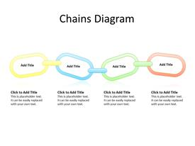 4 steps connected in a chain diagram