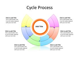 6 steps circular process diagram