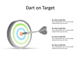 Dart hitting the target concept