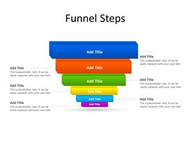 Funnel diagram with 6 stages