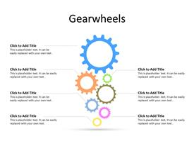 7 Gears in sync with each other