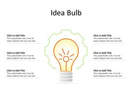 Idea bulb business concept